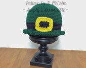 Bowler Hat - Crochet Pattern 71 - US and UK Terms - Instant DOWNLOAD