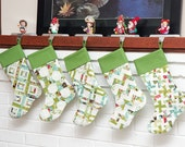 Scrappy Christmas stockings pattern--instant download PDF