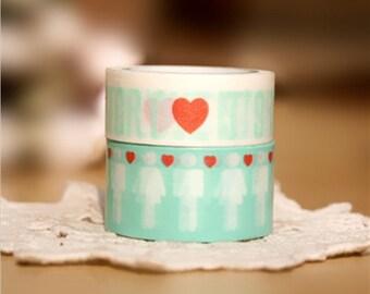 Washi Tape Love Story Tape Rice Paper Tape Masking Tape - 5m