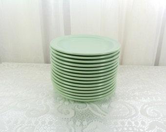 Vintage green melmac saucers Prolon Ware set of fifteen
