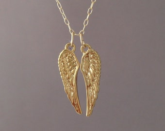 Gold Duo Angel Wing Necklace