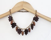 1940s Acorn Wooden Necklace, WWII