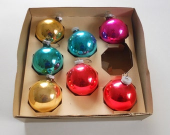 Vintage Christmas Ornaments Mercury Glass Tree Balls Manor House Mid Century Home Decor