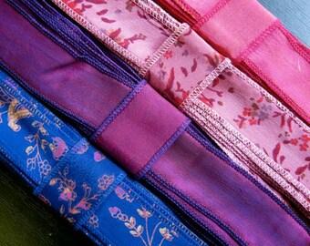 SALE! Silk Sari Ribbon, Silk Trim, 4 colors, R23