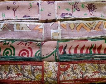 Silk Sari Ribbon, Silk Trim, 4 colors, R50