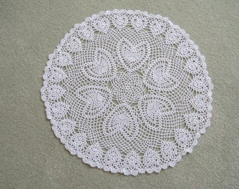 Circle of Love--Crocheted Doily/Table Topper