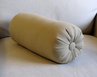 safari tan cotton duck bolster pillow 16 x 6