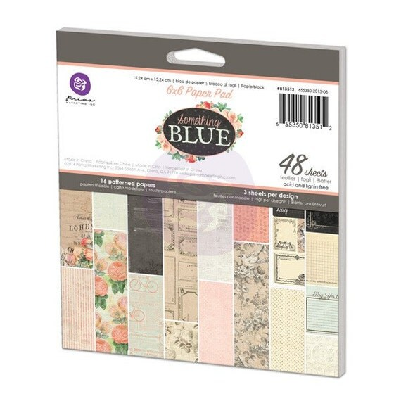 Prima - Something Blue Collection - 6x6 Paper Pad (813512)
