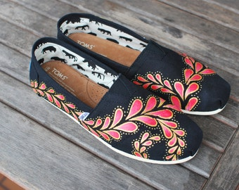 Hand Painted Paisley TOMS shoes