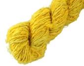 Banana silk yarn, art silk yarn, vegan, yellow, gold