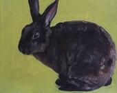 CUSTOM Bunny Portrait Oil Painting 8x10 commissioned Bunny Rabbit