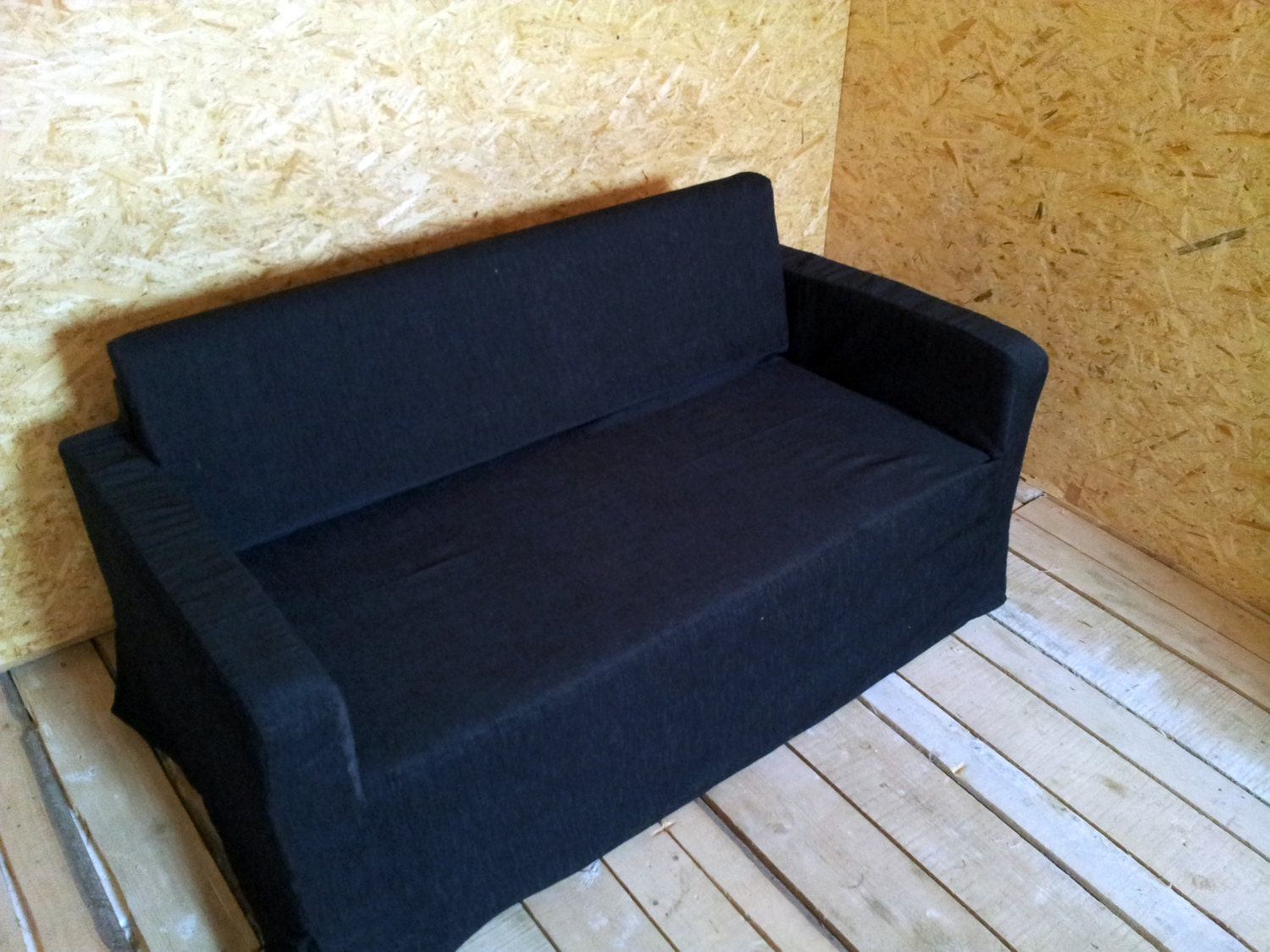 Slipcover for solsta sofa bed from ikea black colour for Solsta sofa bed