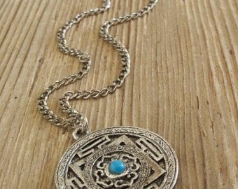 Beautiful Silver Mayan Pendant