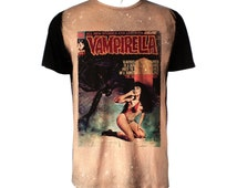 Vampirella vintage horror book black tshirt