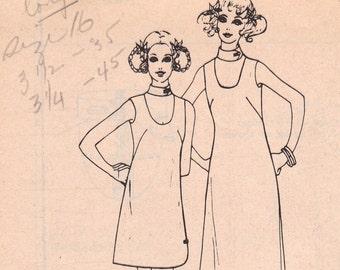 Ihilani Sleeveless Dress Polynesian Pattern 206 Size 16 Uncut