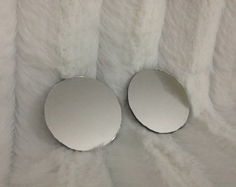 Mirrored lenses addition for goggles - see through - 50mm