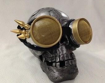 Burner goggles - Metal punk wing spikes Waspeye lens template