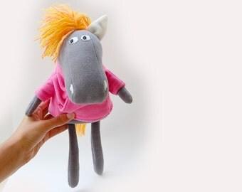 Stuffed horse plush animal soft toy gif for kid