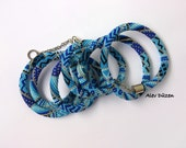 Extra Long Blue Dream Bead Crochet Necklace - Long Beaded Necklace - Handmade Beadwork Necklace - Long Blue Dream Necklace - Blue Necklace