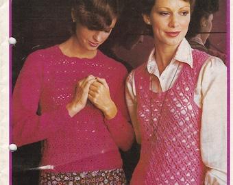 On Sale - Patons Crochet in Bloom  - Vintage 1970s Crochet Pattern No 351