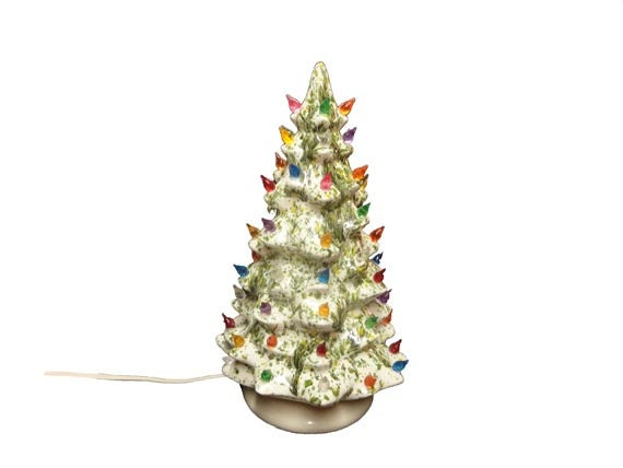 Vintage White Ceramic Christmas Tree Vintage By AGoGoVintage