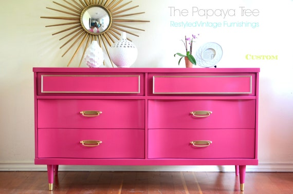 Custom made to order vintage dresser in Lacquer finish