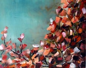 Fall Leaves Acrylic Painting