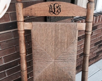 Vine Monogram Decal Small Monogram Decal Vinyl Decal a Rocking Chair Decal Porch Housewares Personalized