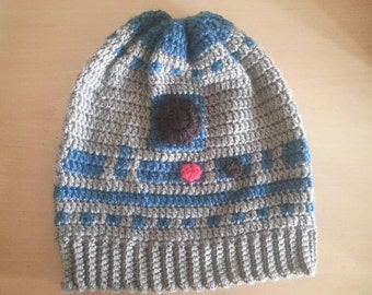 R2D2 Beanie slouchy (adult pattern)