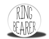 Wedding Party Title - Magnet, Mirror, Bottle Opener or Pin - Ring Bearer