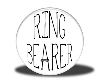 """Wedding Party Title - 1"""" Button - Ring Bearer"""