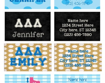 Custom Made to Order Sorority Luggage Tag *GREAT GIFT IDEA* Tri-Delta, Any Sorority Can Be Done! *Big Sis/Little Sis Gift Idea!*