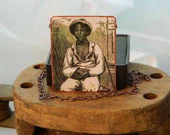 Solomon Northup necklace African American mixed media jewelry