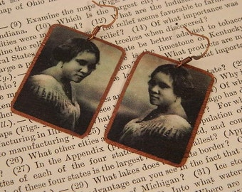 Sarah Breedlove earrings Madam CJ Walker African American history mixed media jewelry