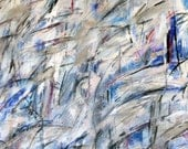 3-25-13  (abstract painting, black, white, cream, purple, blue. silver, red)