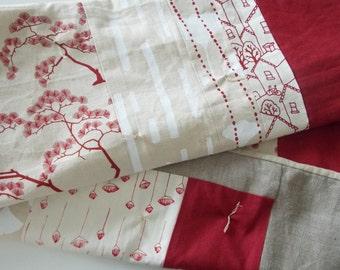 Modern Hemp Quilt - Screen Print Quilt - Organic Baby Quilt