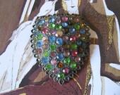 Destash Vintage Jewelry, Sweater Brooch Unique Piece