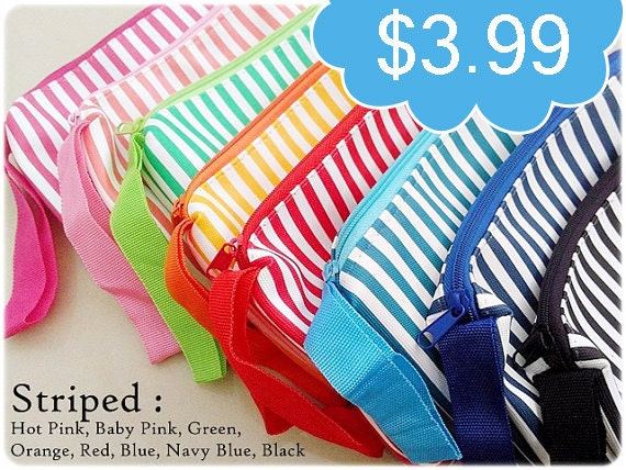 Toiletry Bag, Make-up bag, makeup storage - Striped Pattern