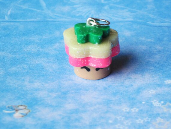 Kawaii Mushroom Charm Necklace Bracelet Glow In Dark Glitter Polymer Clay Jewelry Lolita Geek Gamers Cosplay Mario Free Shipping USA