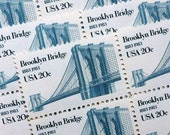 SALE! - 50 pieces - 1983 20 cent Brooklyn Bridge Vintage unused stamps - great for wedding invitations, moving announcements, crafts, etc