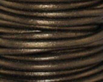 3 Yards - 1.5 mm Leather Cord - Metallic Gauriya - 9 feet
