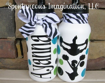 Cheer Water Bottle- Cheer Gift- Cheerleader Water Bottle- Custom Water Bottle- Team Sport Water Bottle