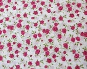 LIBERTY Of LONDON Tana Lawn Cotton Fabric  'Nina' Pink Cerise Roses