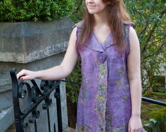 PRETTY IN PINK nuno felt vest, women's size medium