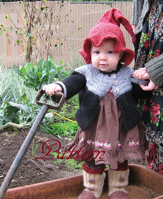 Baby, Toddler, Children's Witch or Elf  Hat PATTERN