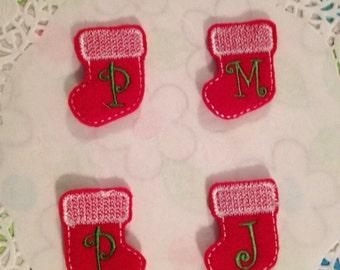 Adorable Light Pink Felt Stockings- Set of 4