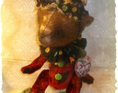 PDF EPattern  to make 9 inch Bear 'Uncle Alex'  Circus Clown Vintage Style  Mohair  by Artist KarynRuby