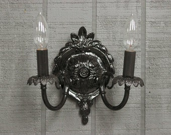 Black Wall Sconce, Shabby Chic Style Wall Light, Wall Lights, Cottage Lighting, Sconces, Item CS-301