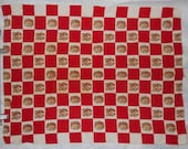 Shabby style red checkered Martex tea towel with walnuts, great for when squirrels visit! Dry Me Dry - etsybetsycash