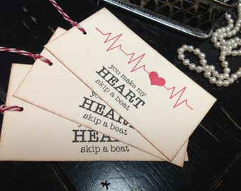 Heart wish tags- wedding wish tree tags- heart favor tags-Valentine's Day-heart favors